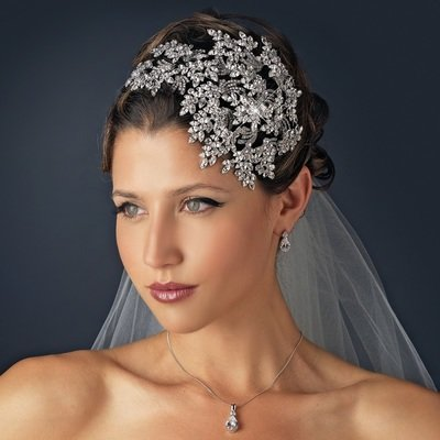 Crystal Bridal Face framer Headband