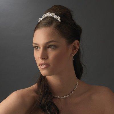 Rhinestone Floral Bridal Comb