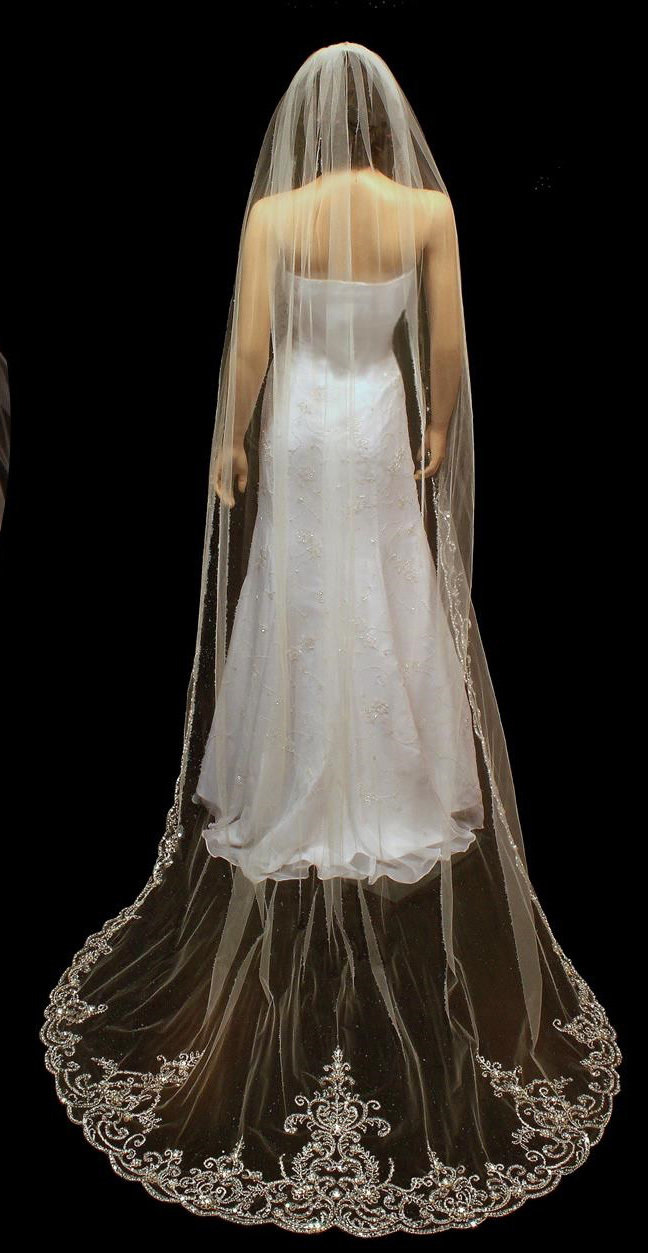 SpectacularCathedral Veil by 1ST CLASS BRIDAL