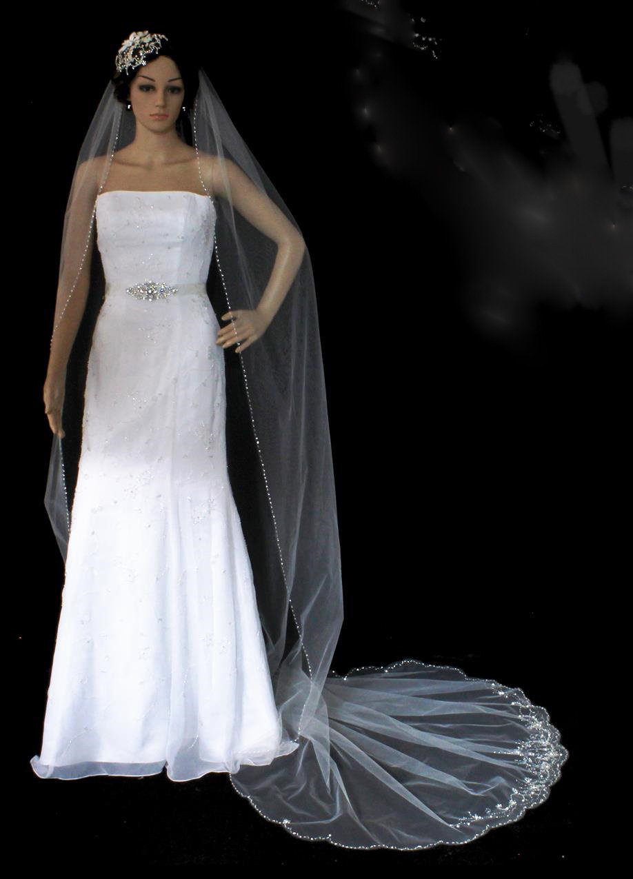 Artistic hand-crafted veil by 1ST CLASS BRIDAL