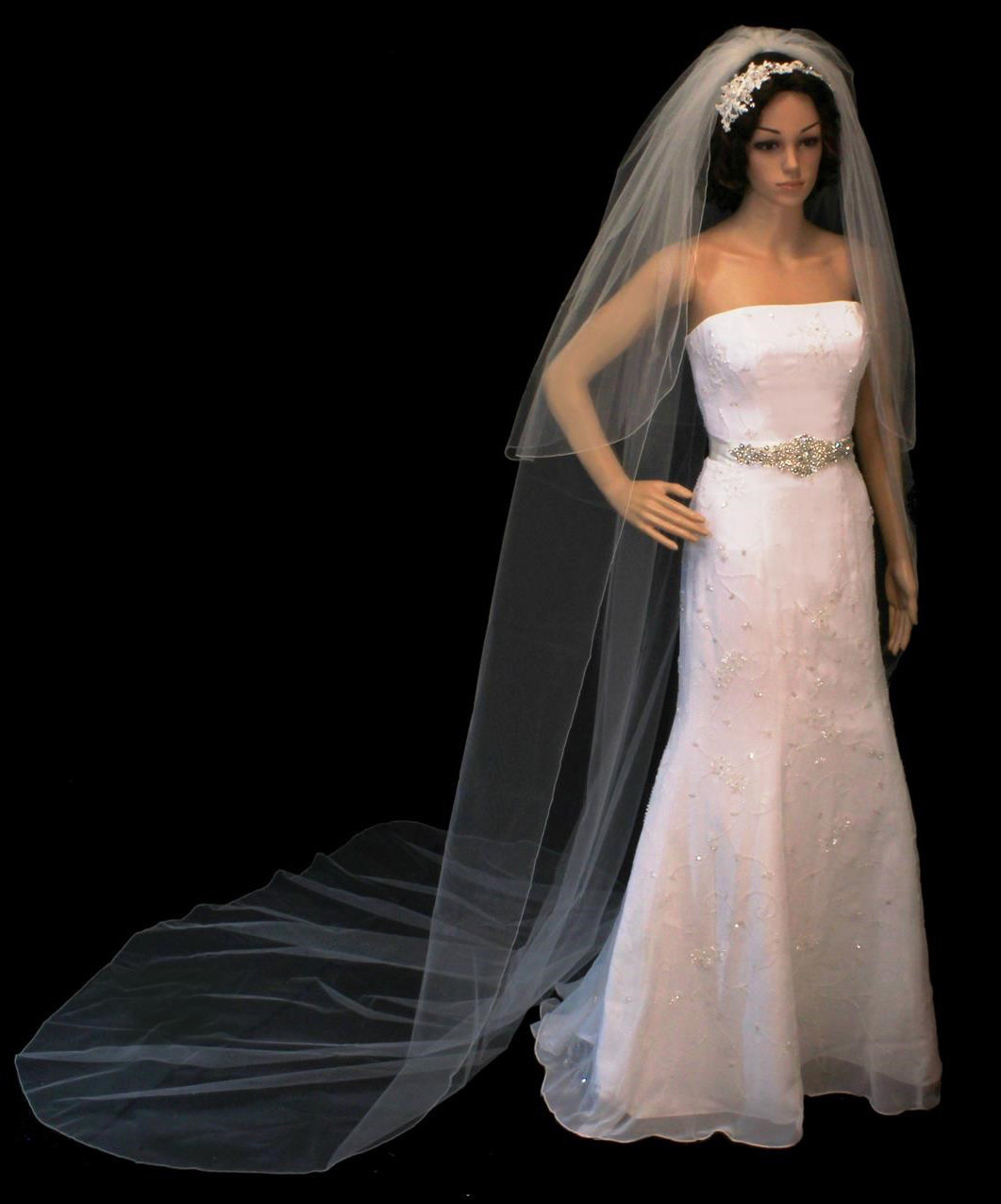 Cathedral Veil with Blusher by 1ST CLASS BRIDAL