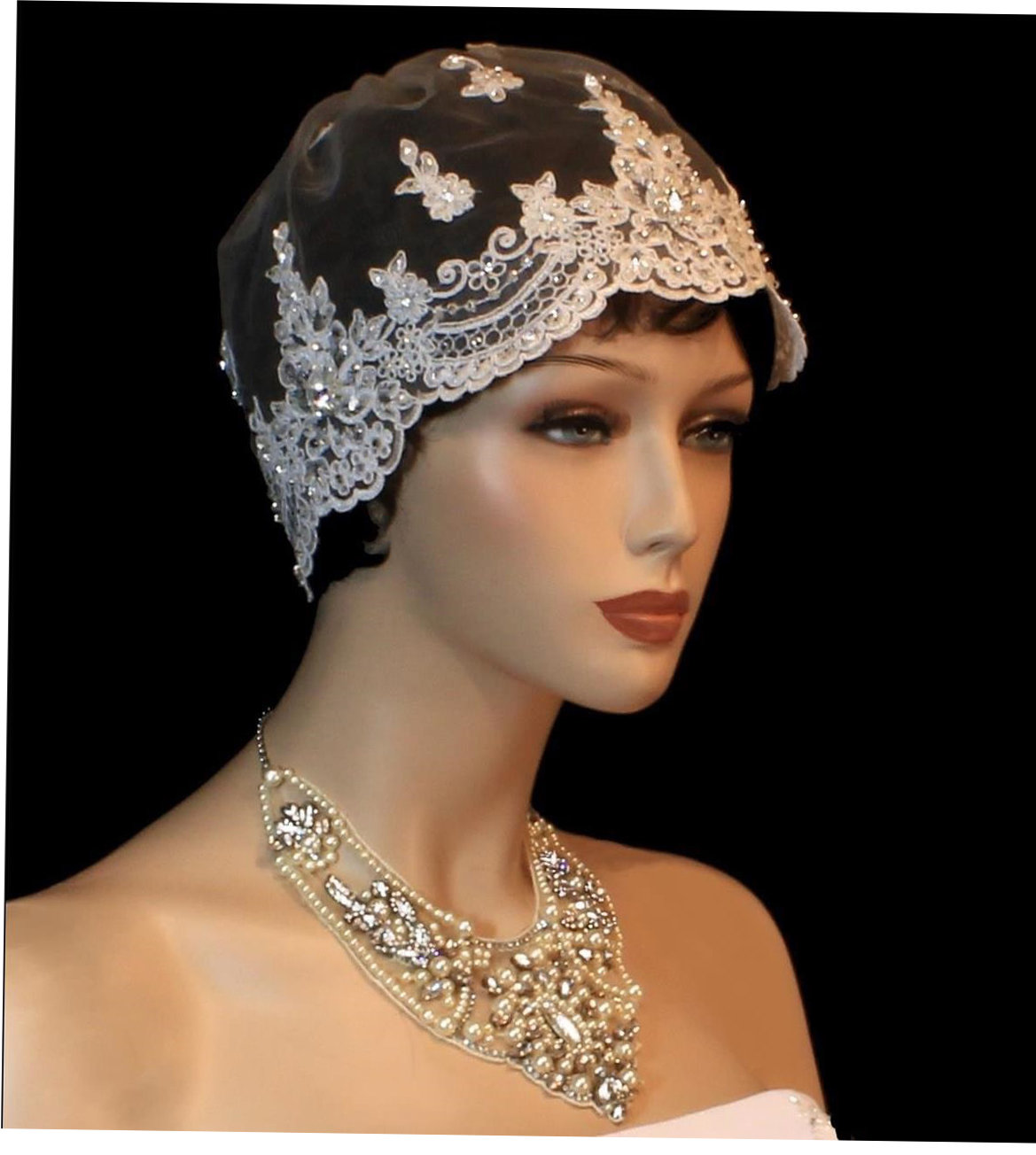 Exquisite Lace Cap by 1ST CLASS BRIDAL