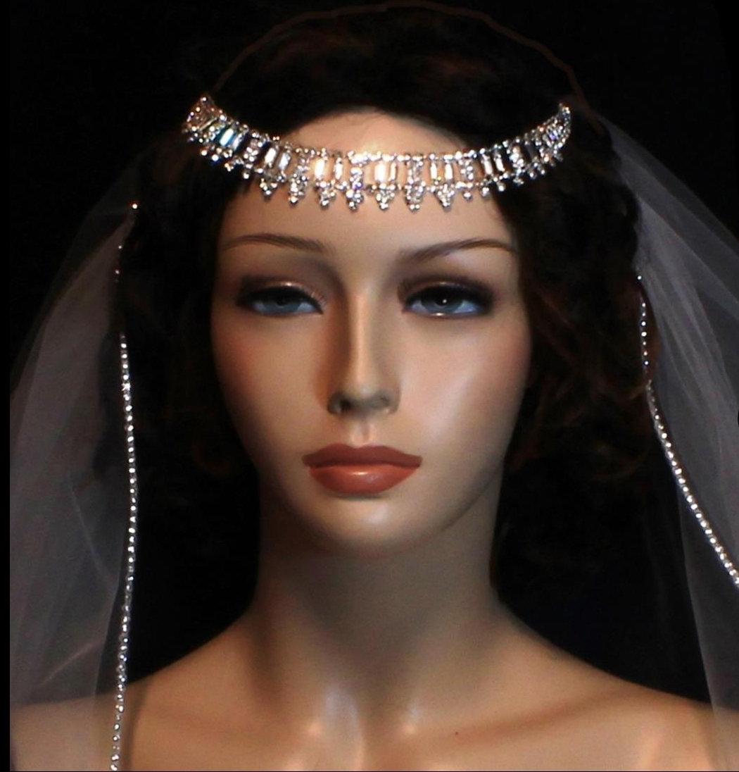 Rhinestone Face Headband