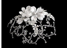 Exquisite Rhinestone Cap by 1ST CLASS BRIDAL
