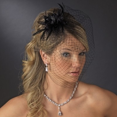 Black Headpiece  BY WEDDING FACTORY DIRECT