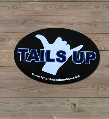 Bumper Sticker - Tails Up