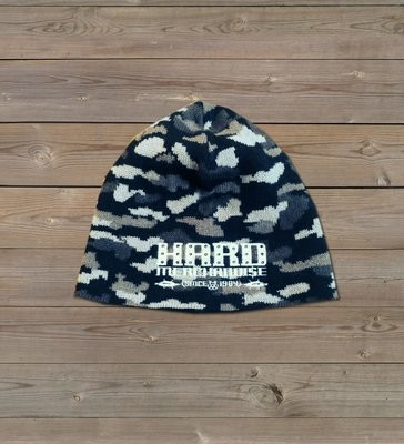 Black/white/grey Camo Beanie