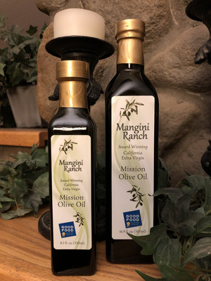 Mangini Ranch Extra Virgin Mission Olive Oil
