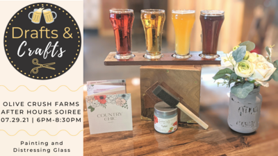 Drafts & Crafts on July 29th, 6PM-8:30PM