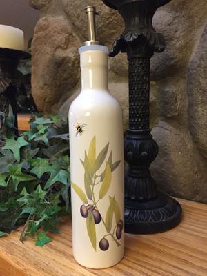Olive Crush Olive Branch Olive Oil Bottle