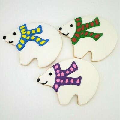 Polar Bear Iced Sugar Cookies