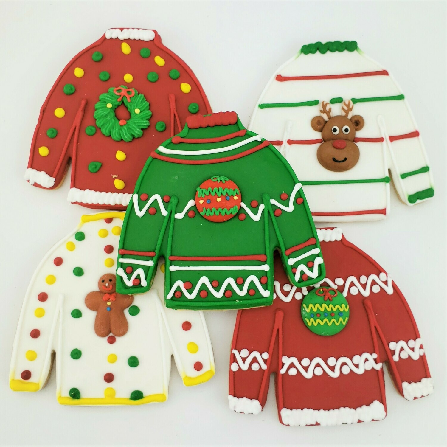 Ugly Sweater Iced Cookies Assortment
