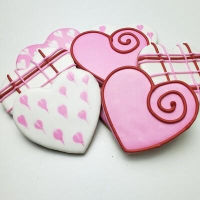 V-Day Hearts Sugar Cookies