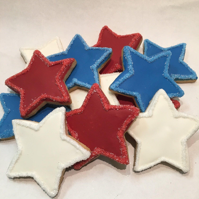 Festive Stars Sugar Cookies