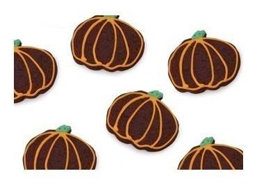 Chocolate Pumpkin Sugar Cookies