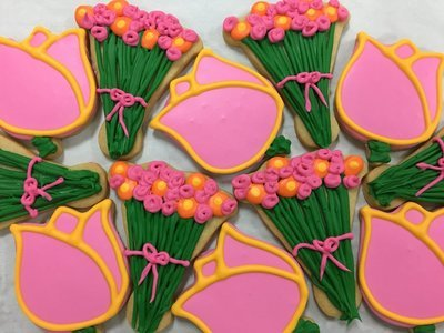 Tulips & Bouquet Sugar Cookies
