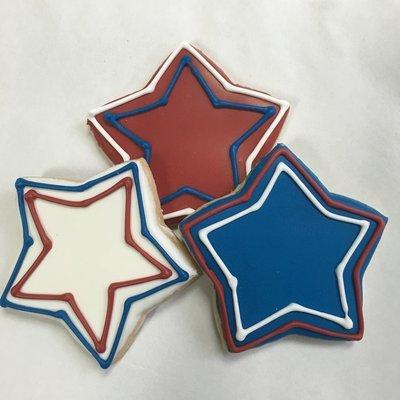 Patriotic Stars Sugar Cookies