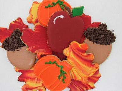 Fall Assortment Sugar Cookies
