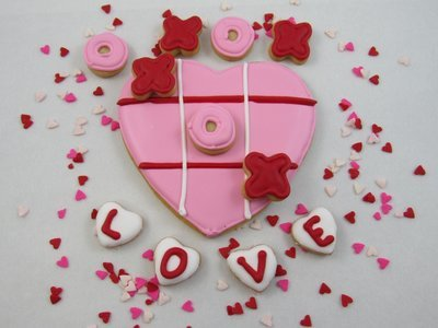 Tic-Tac-Toe My Heart Sugar Cookies
