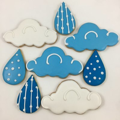 April Showers Sugar Cookies