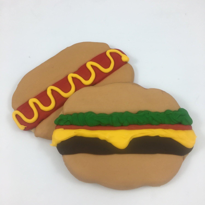 Hot Dogs & Hamburgers Sugar Cookies
