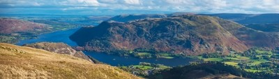 Ullswater from the Helvellyn Range on Canvas 90x30cm
