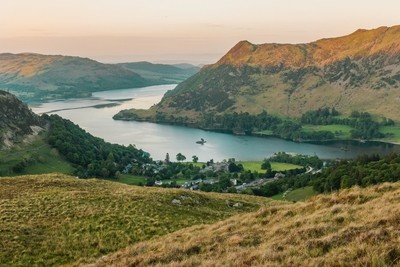Ullswater & Glenridding from Mires Beck Canvas 80x40cm
