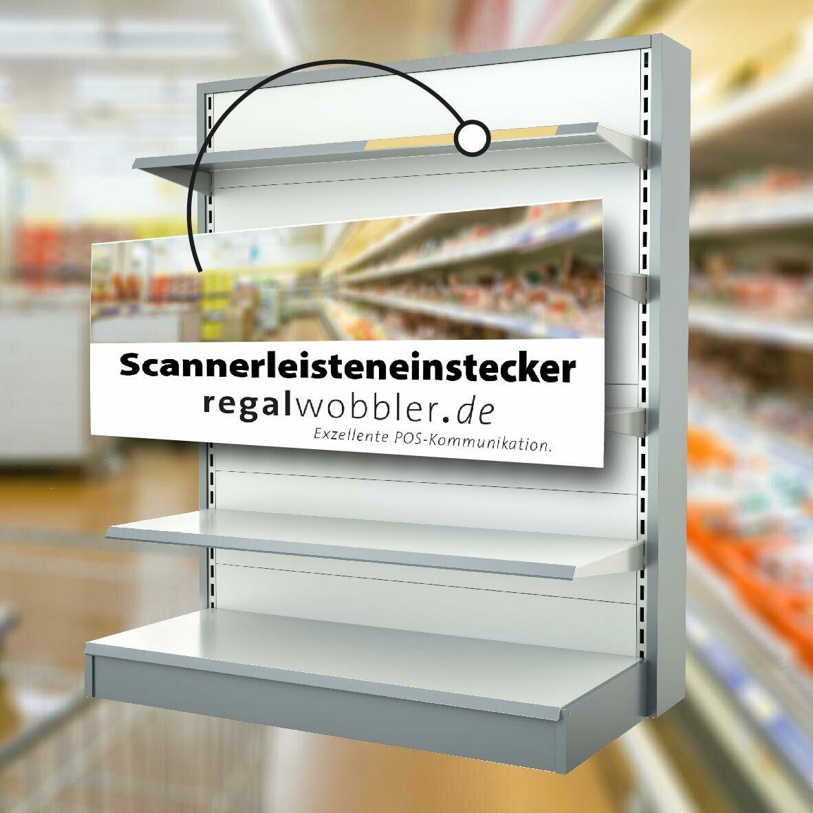 Scannerleisteneinleger in Ihrer individuelle Größe und Sonderform bis 100 mm Breite
