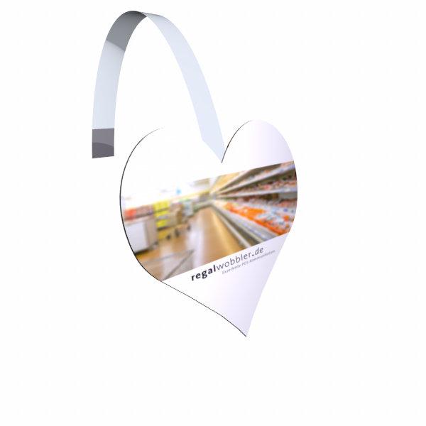 Regalwobbler mit Ihrer individuellen Sonderform bis 120 x 120 mm