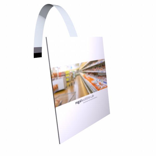 Regalwobbler quadratisch oder rechteckig bis 100 x 100 mm, Kunststofflaminierte Version