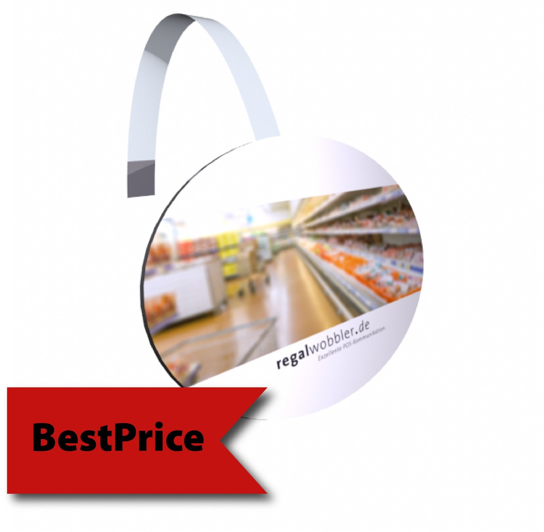 Regalwobbler oval, 95 x 145 mm oder 145 x 95 mm - BestPrice-Modell