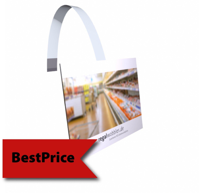 Regalwobbler individuelle Größe rechteckig oder quadratisch von 100 x 100 mm bis DIN A6 - BestPrice-Modell