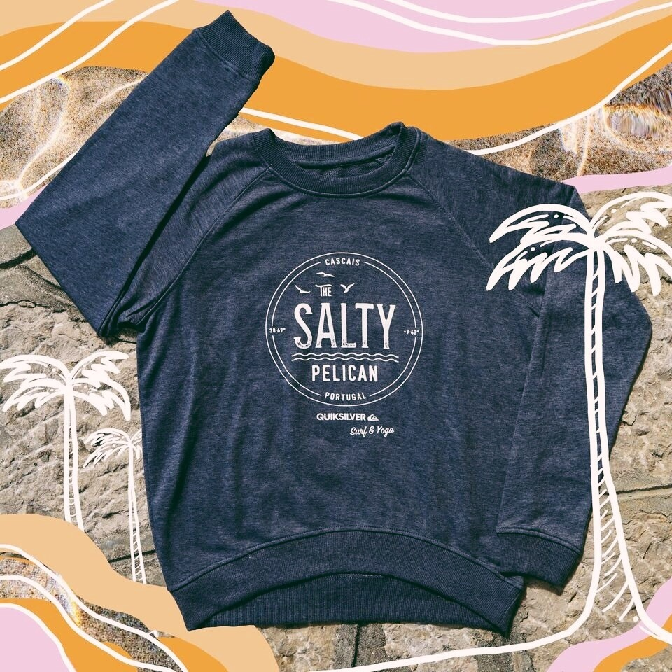 SALTY PELICAN SIGNATURE WASHED BLUE SWEATER: Womens
