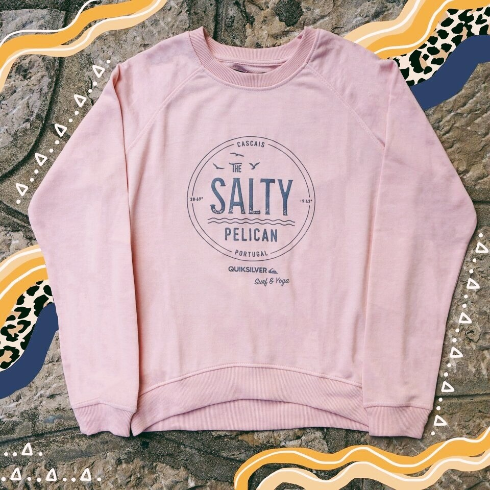 SALTY PELICAN SIGNATURE BABY PINK SWEATER: Womens