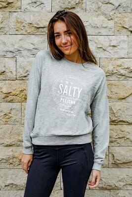 SALTY PELICAN SIGNATURE GREY SWEATER: Womens