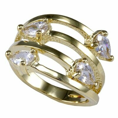 Sheila Fajl Wrapping Ring with 4 Triangle Stones