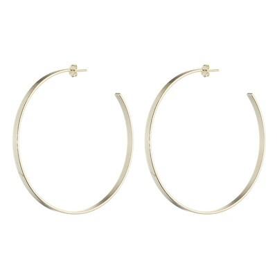 Sheila Fajl Thin Flat Hoop Earrings