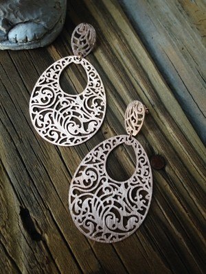 Sheila Fajl Filigree Teardrop Earrings