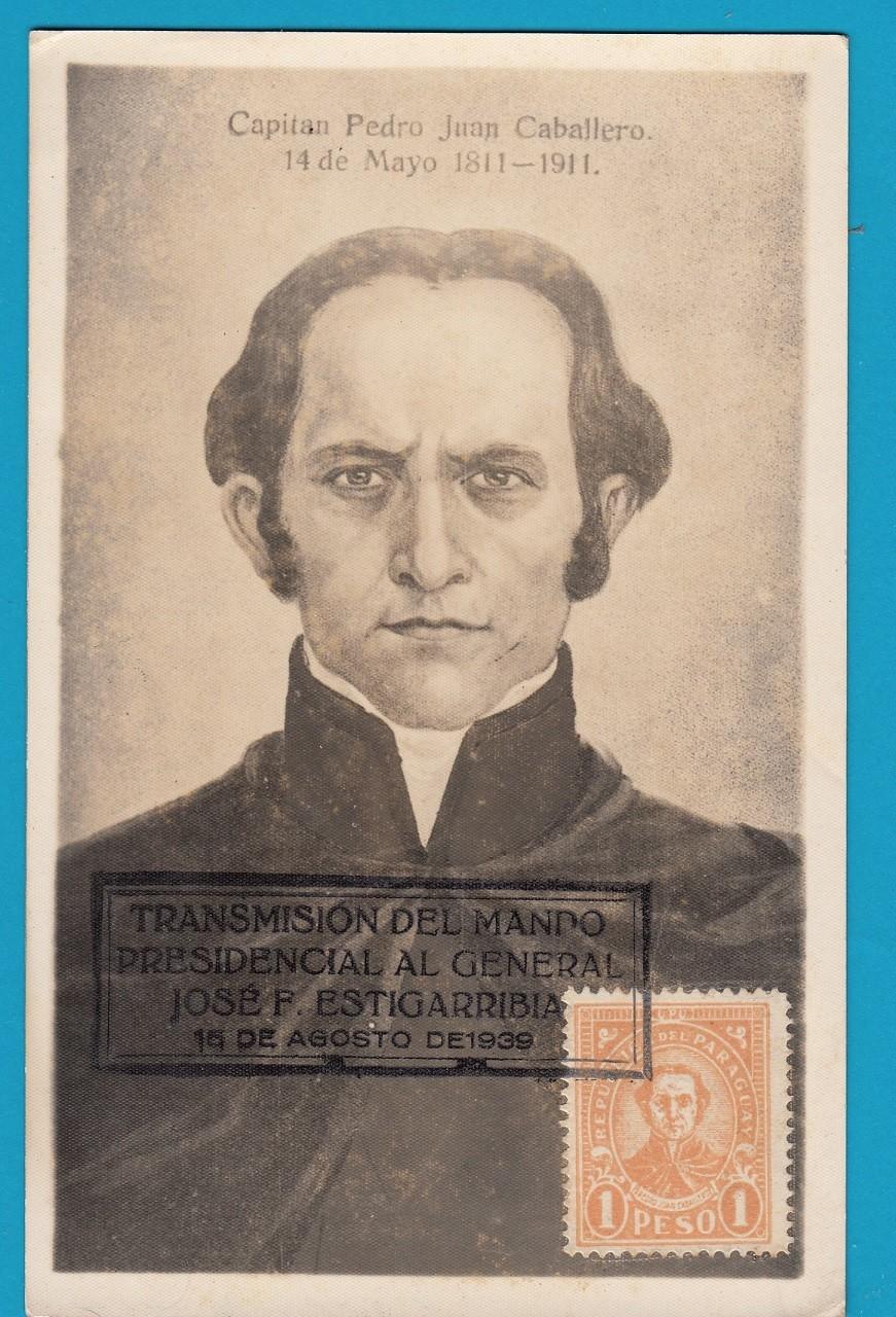 PARAGUAY maximum card 1939 Capitan Pedro Juan Caballero