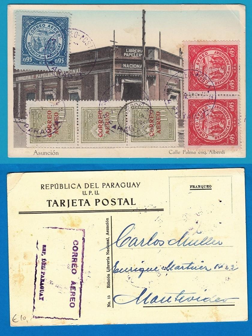 PARAGUAY PPC 1930 Asuncion to Uruguay