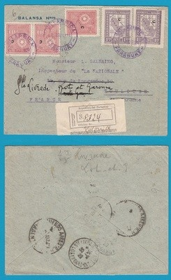 PARAGUAY R cover 1929 Villarrica to France