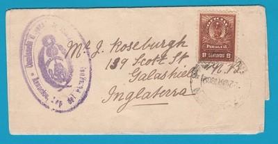 PARAGUAY official wrapper 1902 Asuncion to England