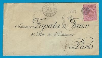 COLOMBIA cover 1896 Bogota to France