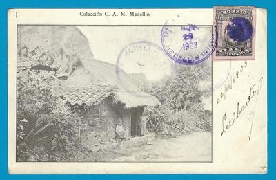 COLOMBIA PPC 1903 Medellin to Netherlands