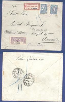 COLOMBIA R cover 1909 to Germany