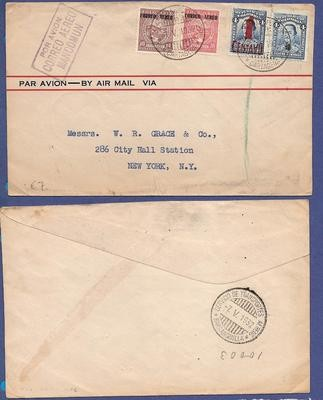 COLOMBIA air cover 1932 Cartagena to USA