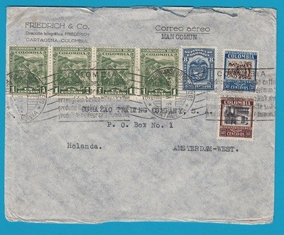COLOMBIA air cover 1934 Cartagena to Netherlands