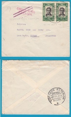 ECUADOR air cover 1932 Quito to England