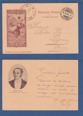 ARGENTINA illustrated postal card 1903 Tigre to Switzerland