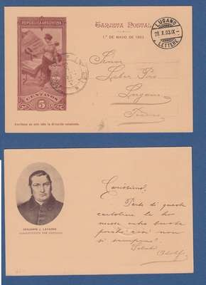 ARGENTINA ill postal card Lavaisse1903 Tigre to Switzerland